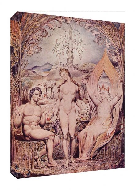 Blake, William: Raphael Warns Adam and Eve. Fine Art Canvas. Sizes: A3/A2/A1 (00452)